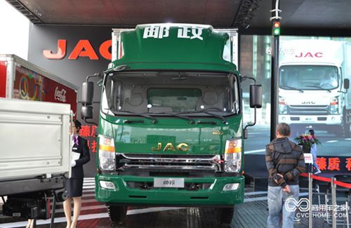 江淮 帅铃中卡 165马力 4X2 排半载货车(邮政)