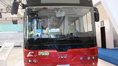 2015节能与新能源成果展 中国中车12米纯电动客车