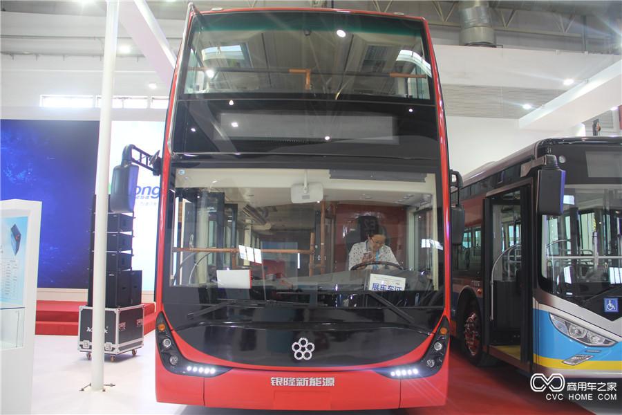 2016北京道路运输展  银隆13米纯电动双层城市客车