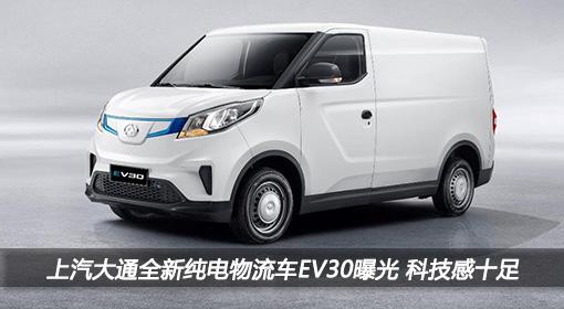 上汽大通全新纯电物流车EV30外观曝光,全新造型科技感十足