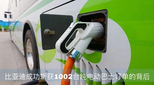 原创 | 比亚迪成功斩获1002台纯电动巴士订单的背后